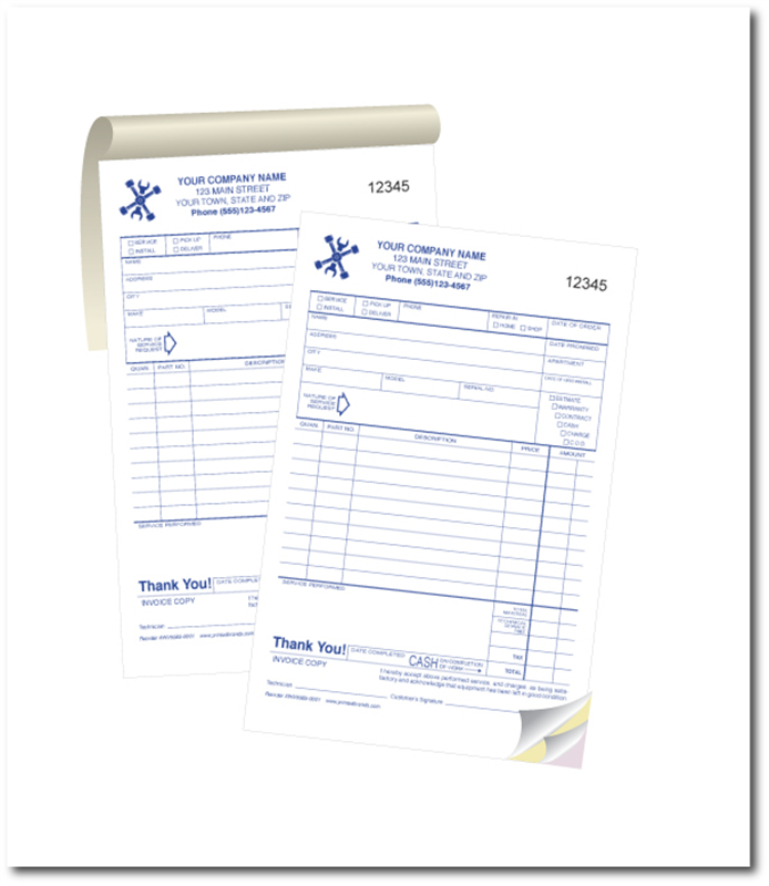 custom invoice 5 5 x 8 5 template 1